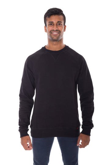 Unisex Black Crew Neck Organic Fairtrade