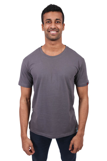 Unisex Charcoal T-shirt Organic Fairtrade Etiko
