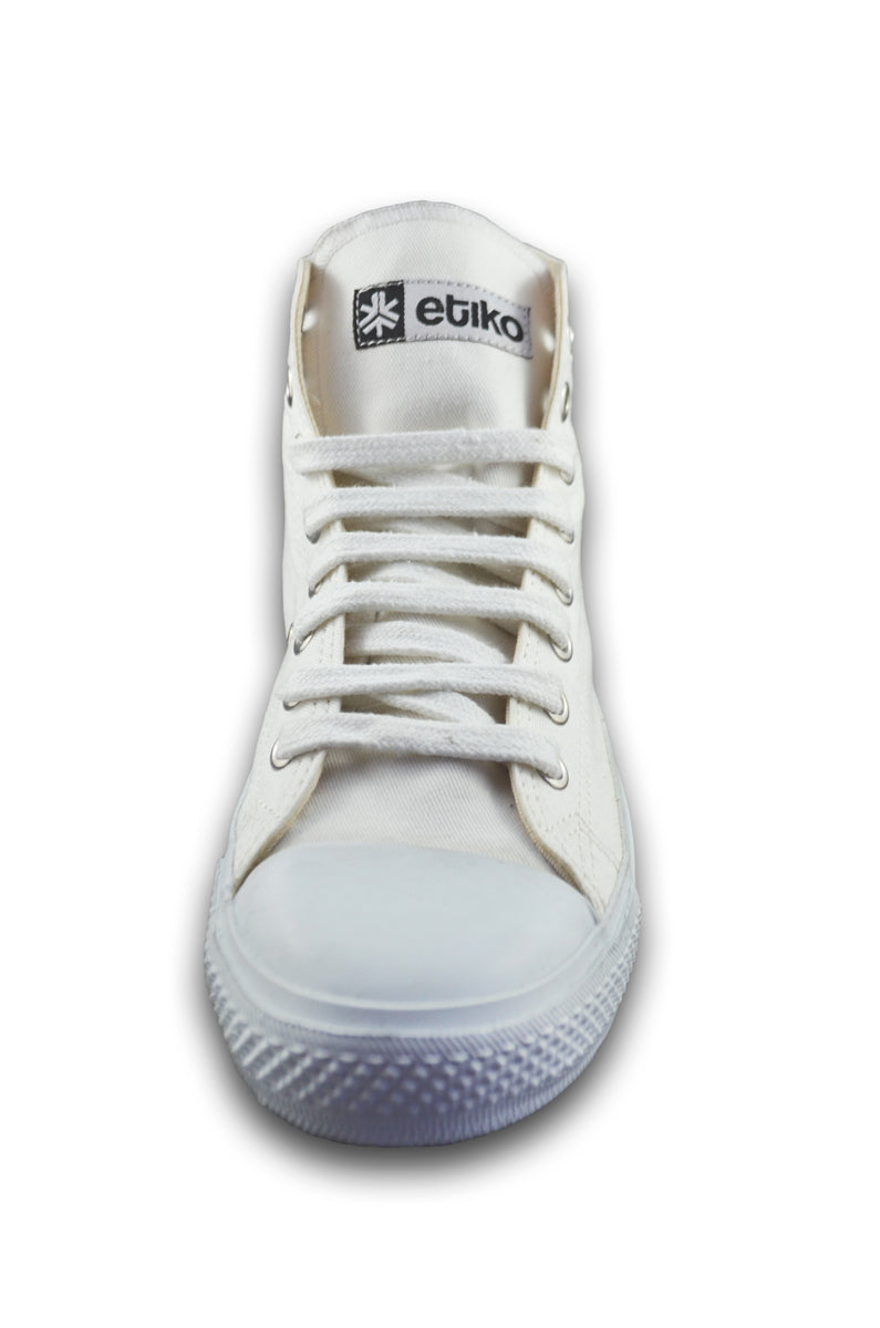 Sneakers Hitops All White - Limited Edition Organic Fairtrade