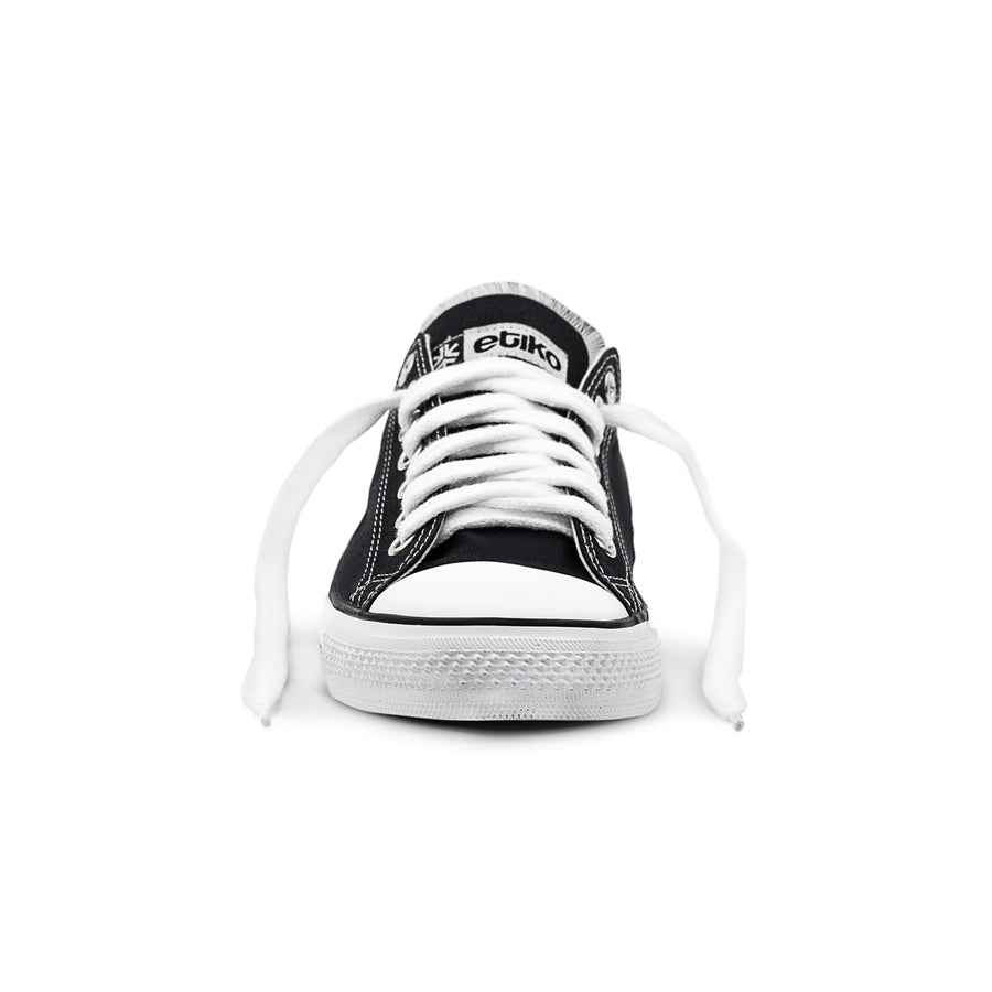 Sneakers Lowcuts Black & White Organic Fairtrade
