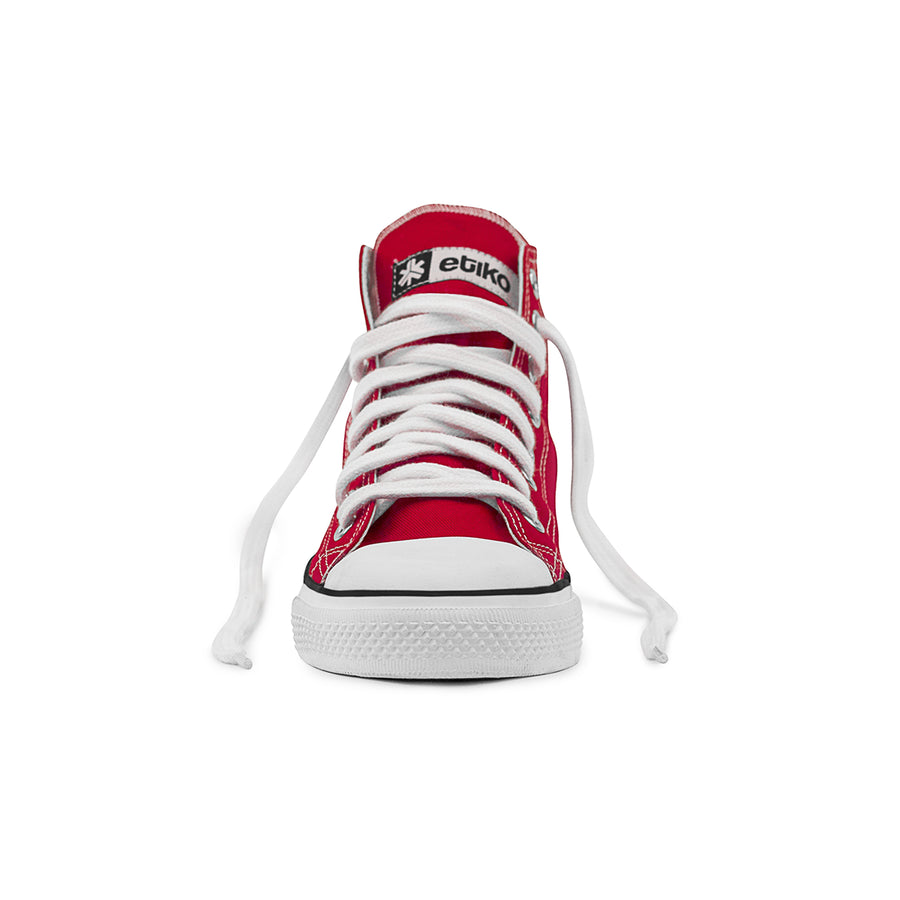 Etiko Sneakers Hitops Red Organic