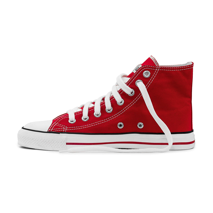 Sneakers Hitops Red Organic Fairtrade