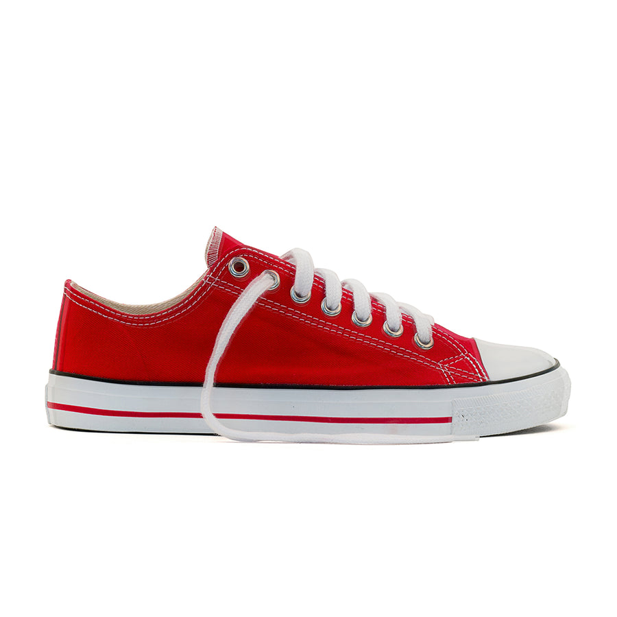 Sneakers Lowcuts Red Organic Fairtrade Etiko