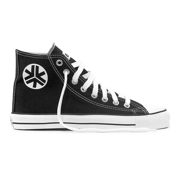 Sneakers Hitops Black & White Organic Fairtrade Etiko