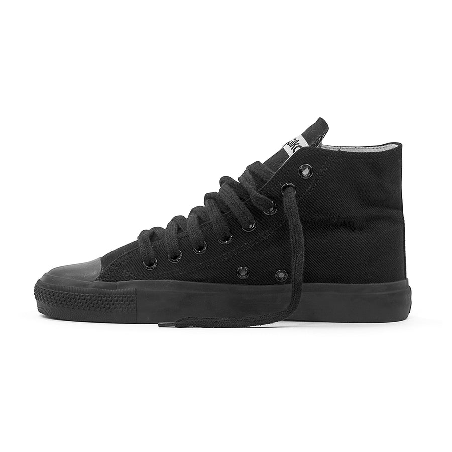 Etiko Sneakers Hitops All Black Organic Fairtrade