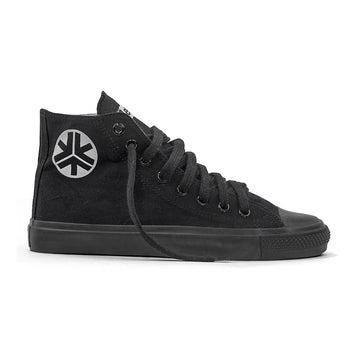 Sneakers Hitops All Black Organic Fairtrade Etiko