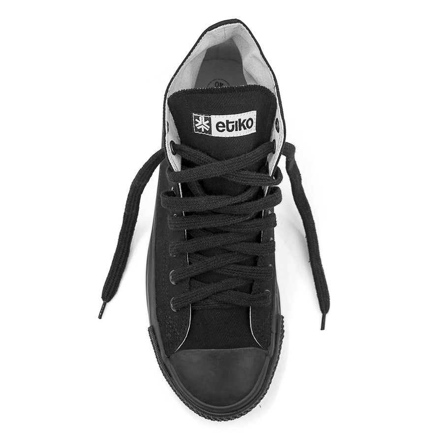 Sneakers Hitops All Black Organic Etiko