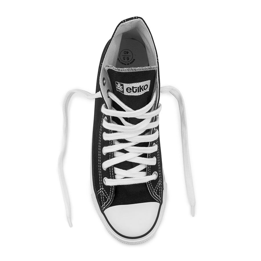 Sneakers Hitops Black & White Organic Fairtrade