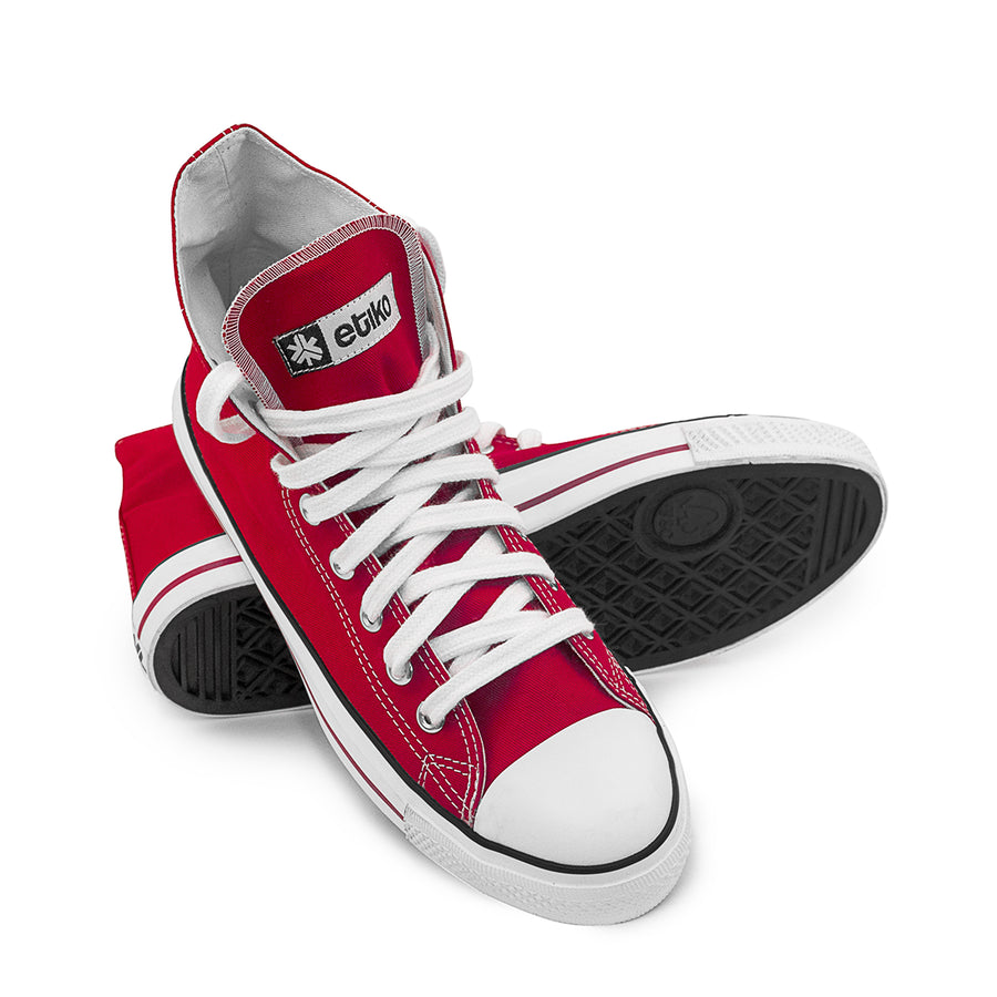 Etiko Sneakers Hitops Red