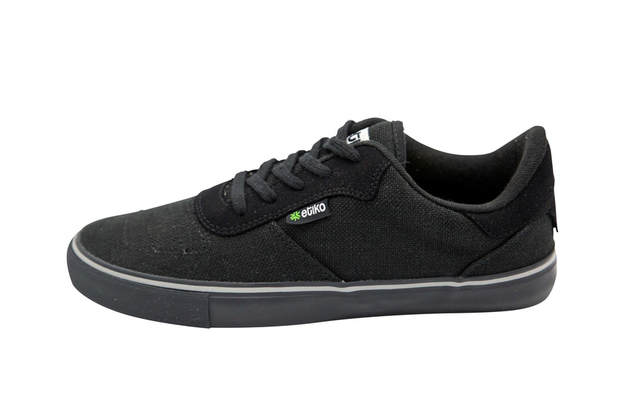 Etiko Hemp Sneakers All Black
