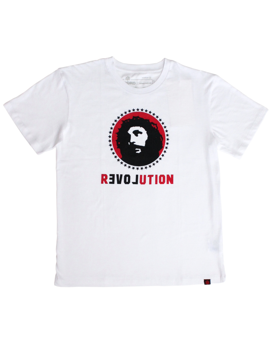 Organic Fairtrade Tshirt Unisex Love Revolution White