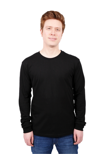 Unisex Black Long Sleeve T-shirt Organic Fairtrade