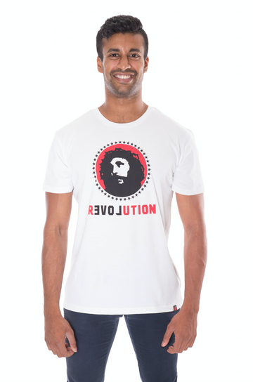 Love Revolution white t-shirt - unisex organic fairtrade