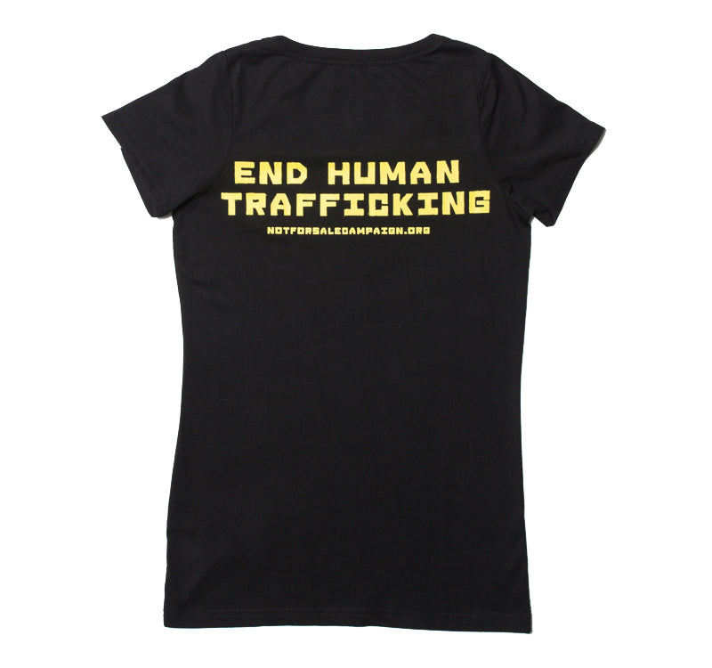 Tshirt Women's This Shirt Free Slaves Black Organic Fairtrade