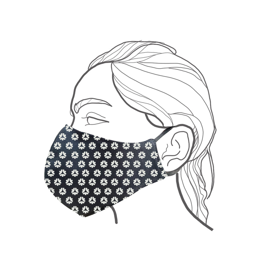 Side View of Medium Facemask (suitable for women)