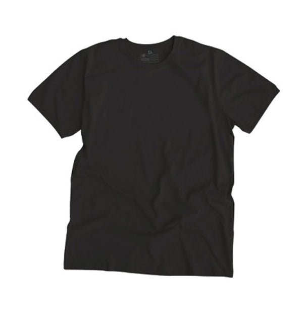 Etiko unisex plain t-shirt black black made from organic and fairtrade cotton