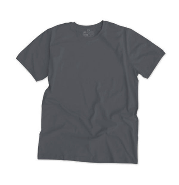 Etiko unisex plain t-shirt black charcoal made from organic and fairtrade cotton