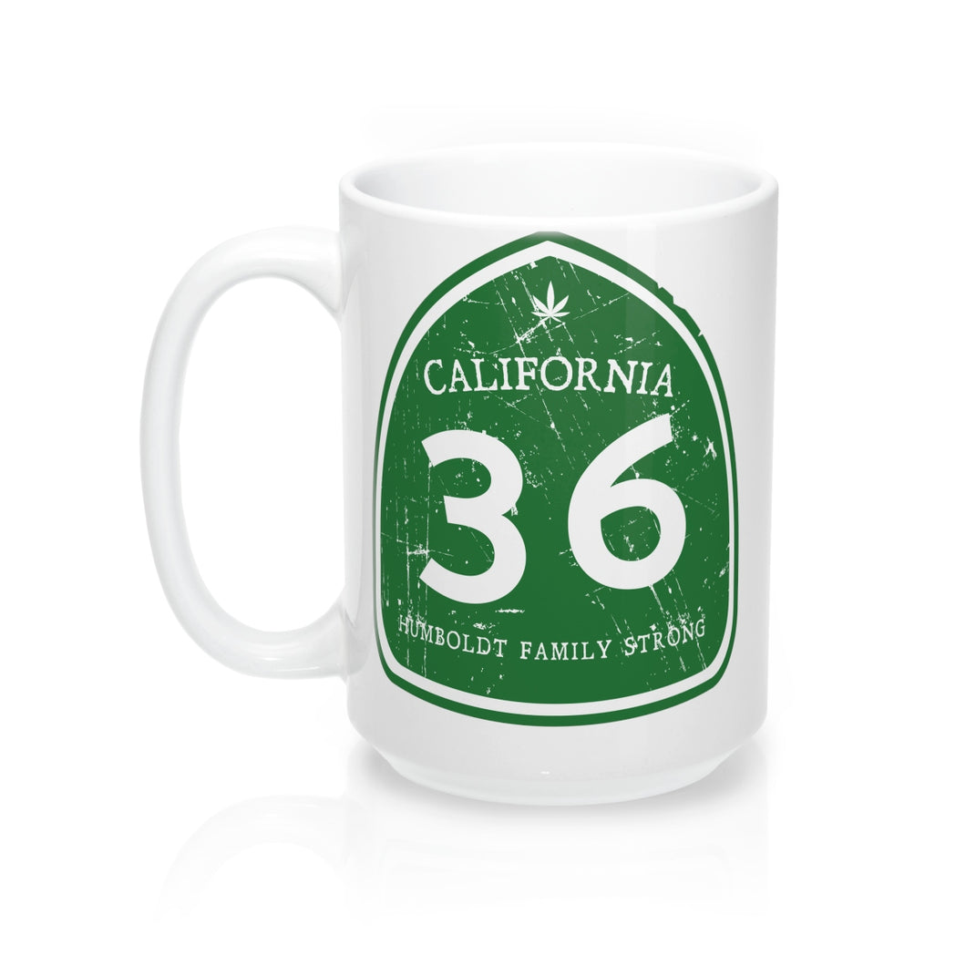 Humboldt Family Strong Highway 36 Mug 15oz