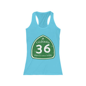 Women's Humboldt Family Strong Highway 36 Racerback Tank