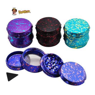 Drum Aluminum Metal Smoking Herb Grinders 48MM 4 Layer CNC Diamond Teeth Aluminum Dry Herb Grinder Weed Miller