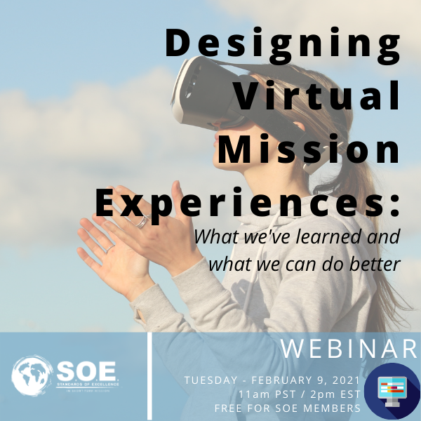 Designing Virtual Mission Experiences: what we've learned and what we can do better