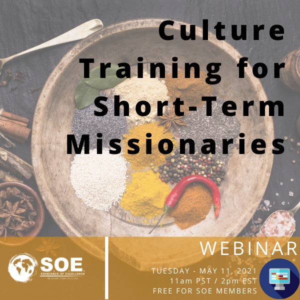 Culture Training for Short-Term Missionaries