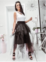 Load image into Gallery viewer, Black Tutu Skirt and White Vest