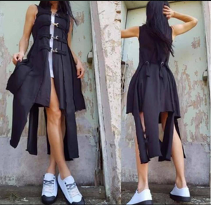 Black Asymmetrical Vest