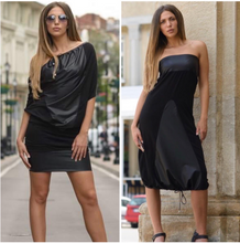 Load image into Gallery viewer, Black Dress Two ways to Wear it