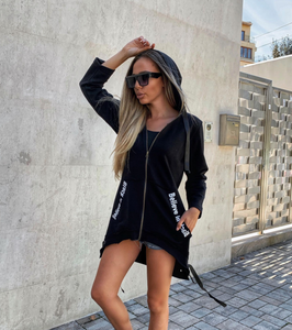 Chick Black Oversized Hoodie