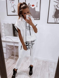 Black or White Summer Set -Vest top and Drop crouch pants