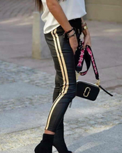 Load image into Gallery viewer, Eko Leather Skinny Track Pants - FabNetStudio