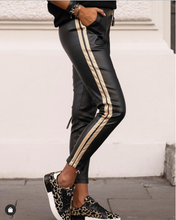 Laden Sie das Bild in den Galerie-Viewer, Eko Leather Skinny Track Pants - FabNetStudio