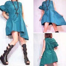 Load image into Gallery viewer, Asymmetrical Green Dress