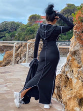 Load image into Gallery viewer, Patchwork Maxi Dress and Long Jacket Set