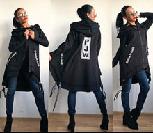 Load image into Gallery viewer, Chick Black Oversized Hoodie - FabNetStudio