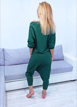 Load image into Gallery viewer, Dark Forest Green Top and Pants Set