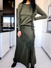 Load image into Gallery viewer, Patchwork Maxi Green Skirt
