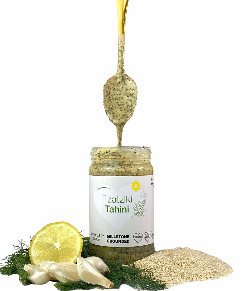 Tahini - kosher - Smoother, Creamier, Pure and Authentic .Net Wt. 8.8 0z (250gr) - mysexyveggies.com