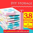 (Buy 1 Set Get free 6 bags+hand pump ) Thickened Vacuum Compressed DIY Storage Bag