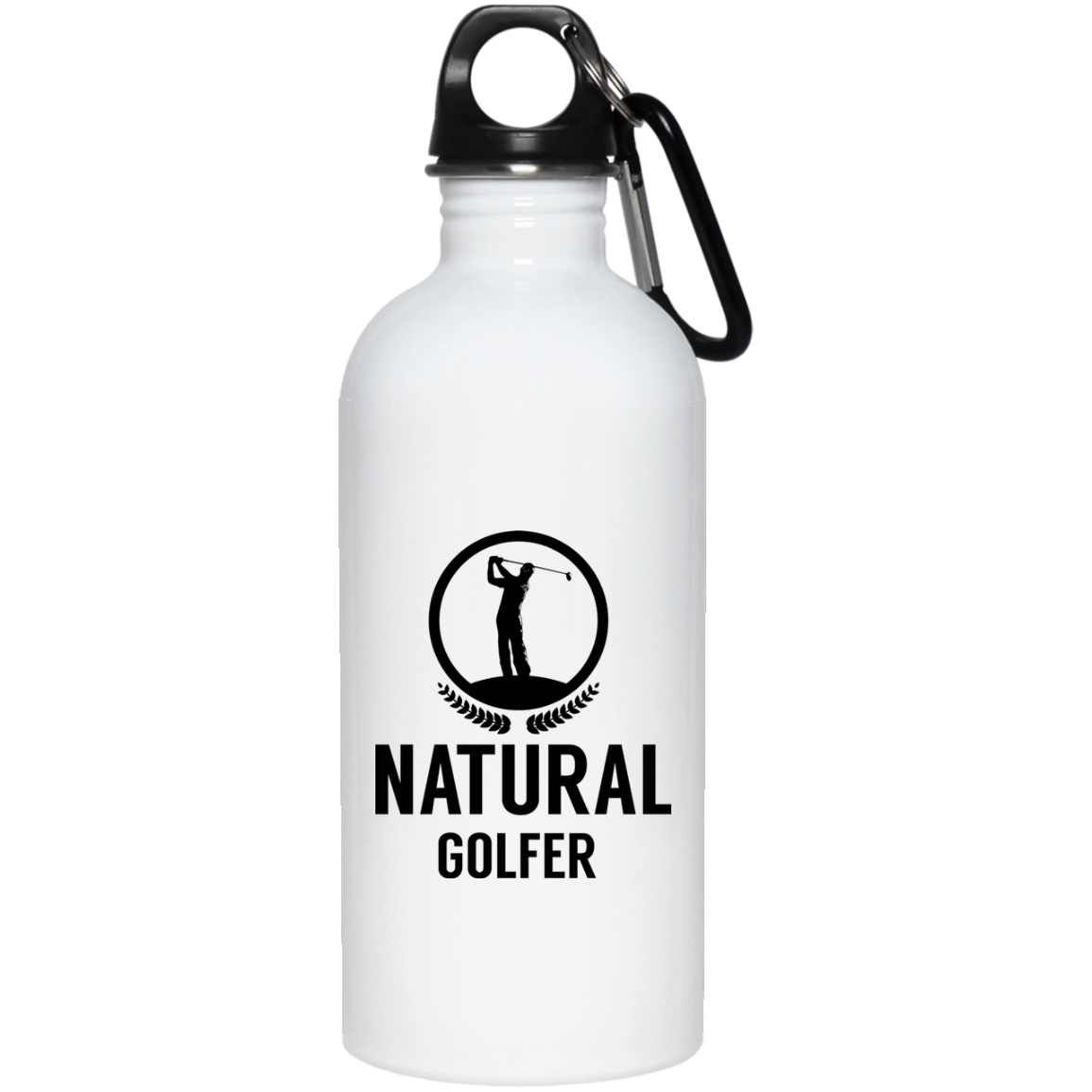 20 oz. Stainless Steel Water Bottle- Natural Golfer