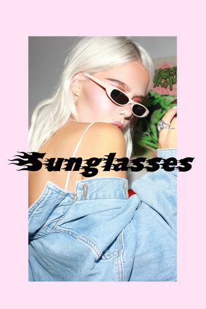 vintage sunglasses for men and women - Chunky rectangle frame sunglasses