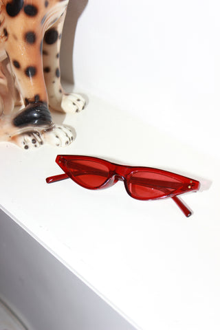 Maraschino Cherry Red Ultra Slim Sunglasses