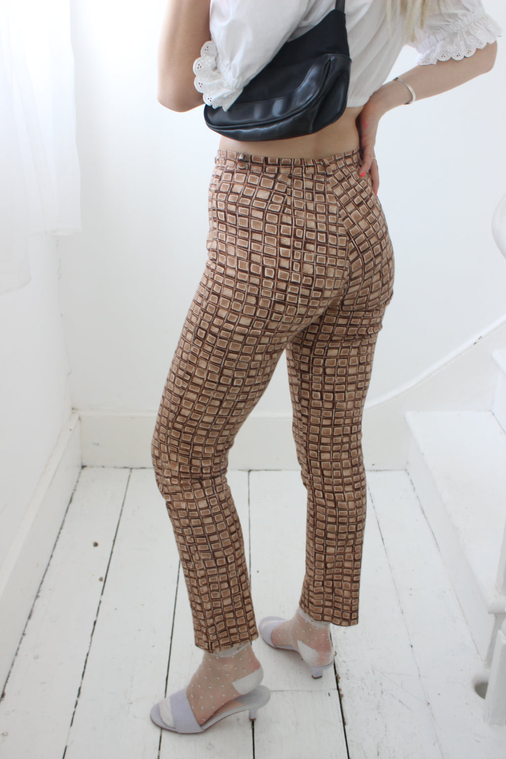Vintage Early 90s High-Waisted Brown Trousers