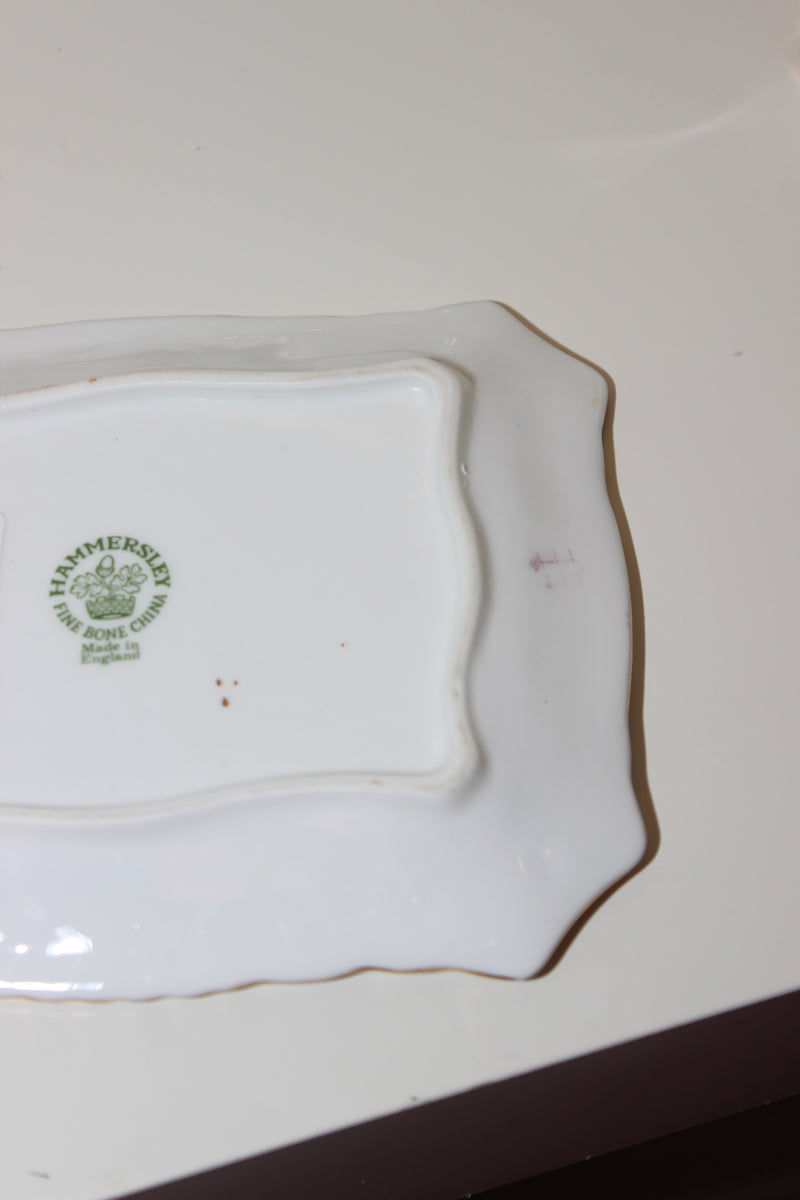 Vintage 1970s Fine Bone China Mini Butter Dish