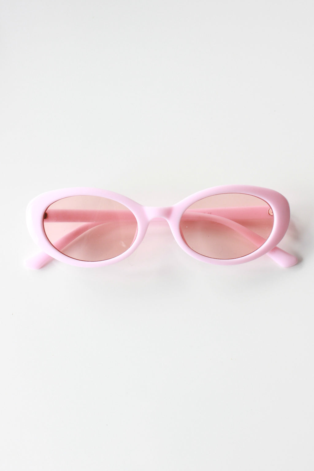 'BUBBLEGUM' Pink Oval Sunglasses