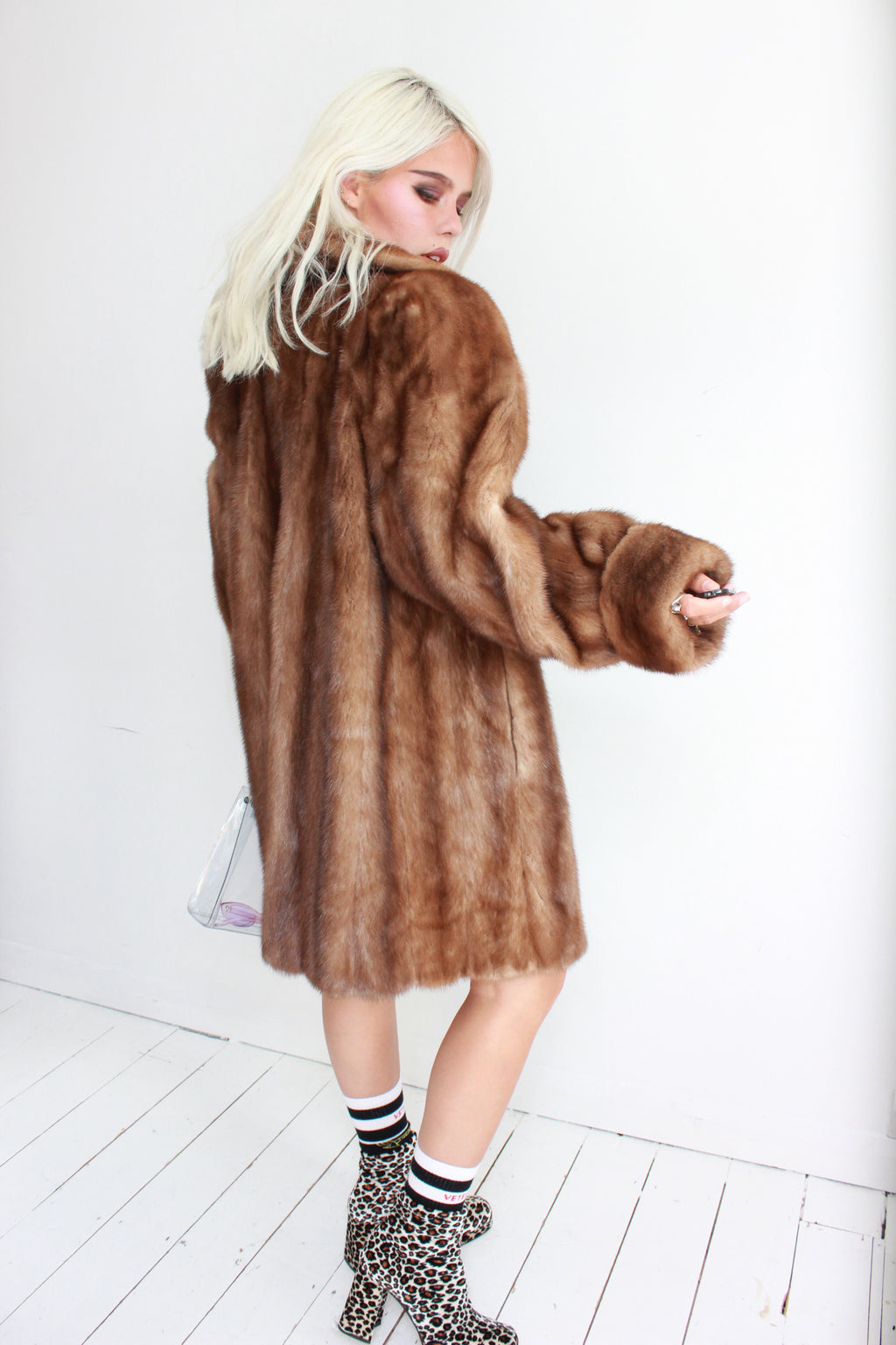 Premium Vintage 50s Brown Mink Fur Jacket