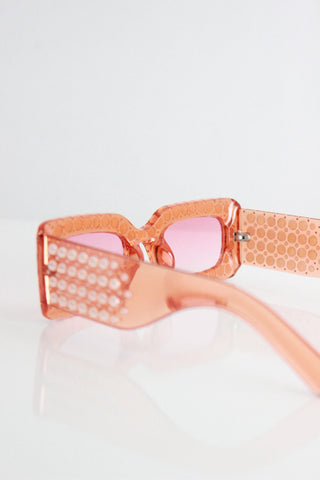 Rose Gold Mirror Lens Cat Eye Sunglasses