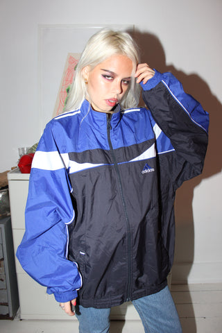 Vintage 90s Baby blue & Navy Adidas Zip Up Tracksuit Jacket