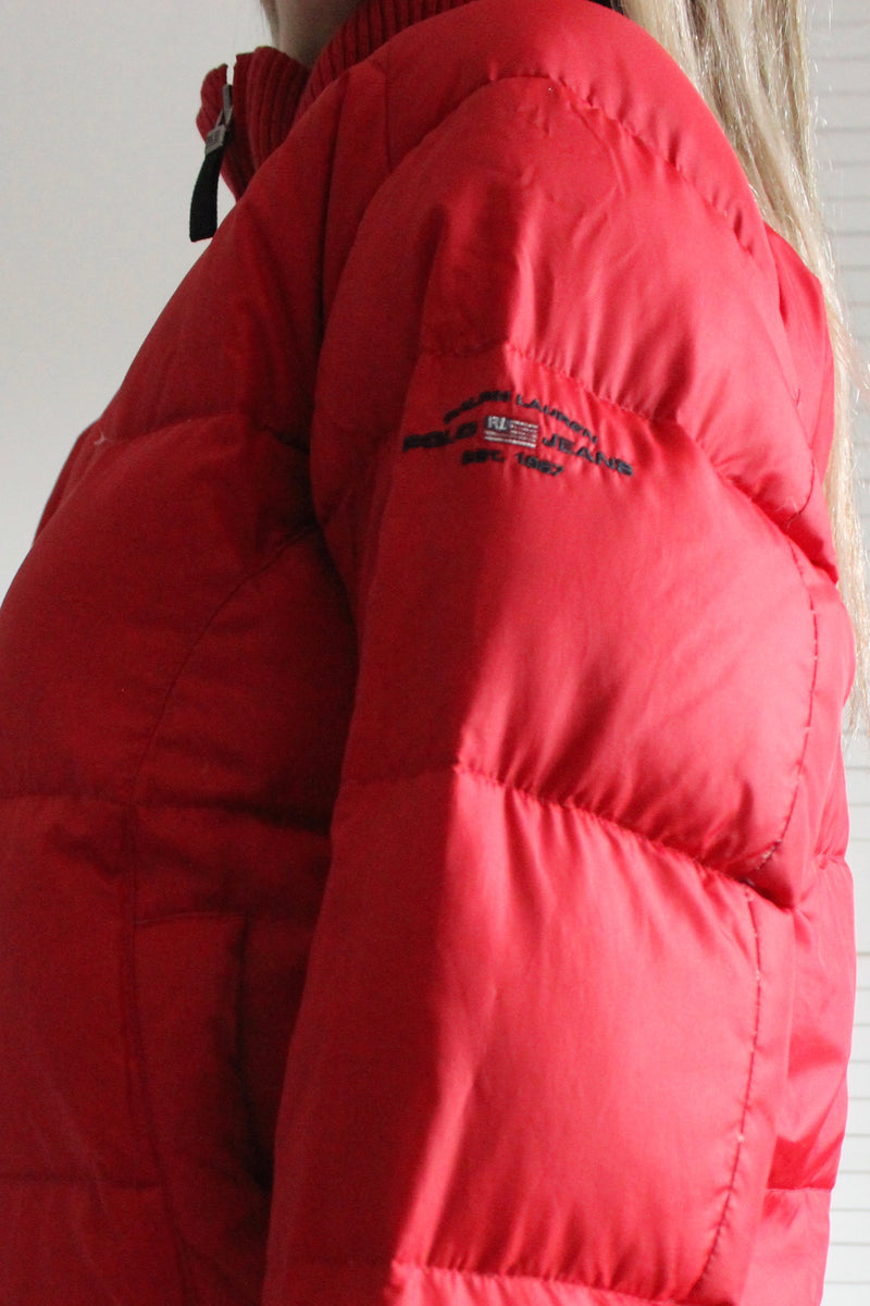 Vintage 90s Red Ralph Lauren Puffer Jacket